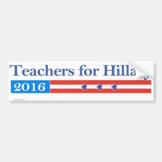 Teachers for Hillary Clinton in 2016! Bumper Sticker