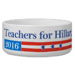 Teachers for Hillary Clinton in 2016! Pet Food Bowls