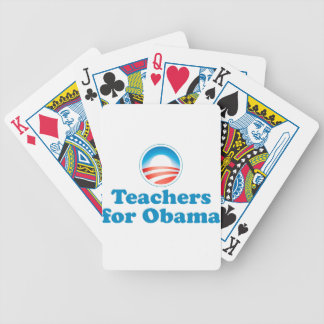 Teachers for Obama Bicycle Playing Cards