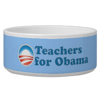 Teachers for Obama Dog Water Bowls