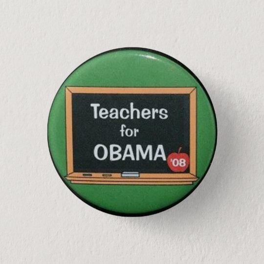 Teachers for Obama Pinback Button