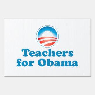 Teachers for Obama Sign
