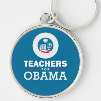 Teachers for Obama Silver-Colored Round Keychain