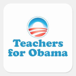 Teachers for Obama Square Sticker