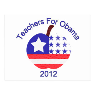 Teachers For Obama Tees and Gifts Postcard