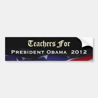 Teachers For President Obama 2012 Sticker