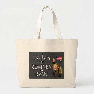 TEACHERS FOR ROMNEY jpg Tote Bag