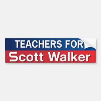 Teachers for Scott Walker Car Bumper Sticker