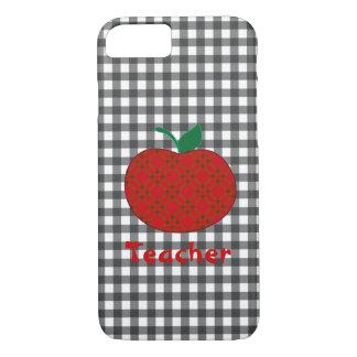 Teacher's Gingham Apple iPhone 7 case