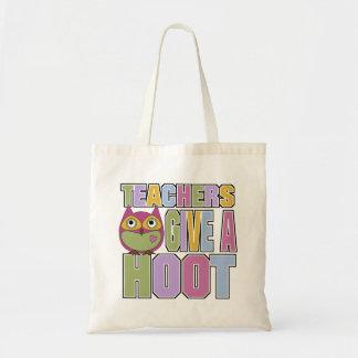 Teachers Give A Hoot Tote Bags