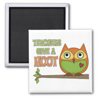 Teachers Give A Hoot Fridge Magnets