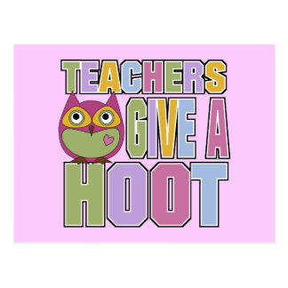Teachers Give A Hoot Postcard