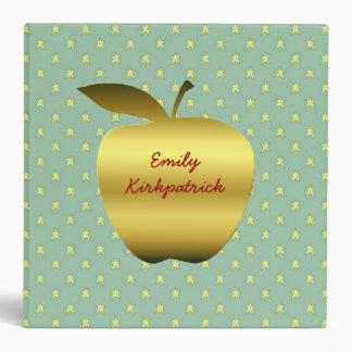 Teacher's Golden Stars & Apple Binder