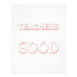 Teachers gonna learn you good letterhead