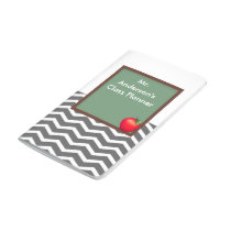 Teachers Gray Chevron Chalkboard Pocket Journal