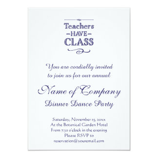 Teachers Have Class Blue and White Card