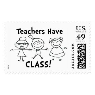 Teachers Have Class - Postage Stamp