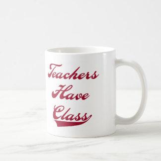 Teachers Have  Class Red Coffee Mug