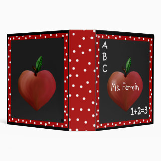 Teacher's Heart Apple Binder