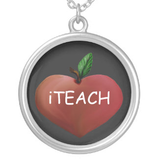 Teacher's Heart Apple Necklace