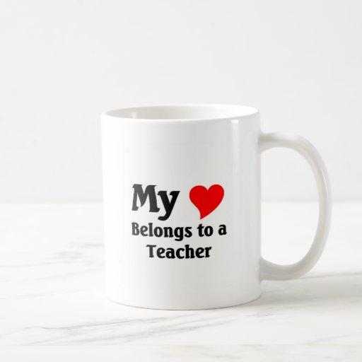 Teacher's heart coffee mug