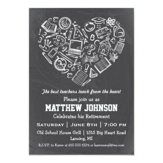 Teachers Heart Retirement Party Invitation