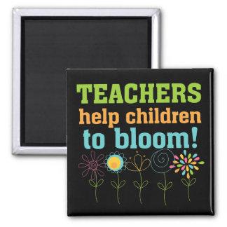 Teachers Help Children Bloom 2 Inch Square Magnet