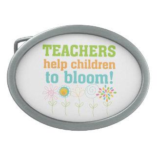 Teachers Help Children Bloom Belt Buckle