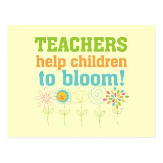 Teachers Help Children Bloom Postcard