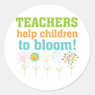 Teachers Help Children Bloom Sticker