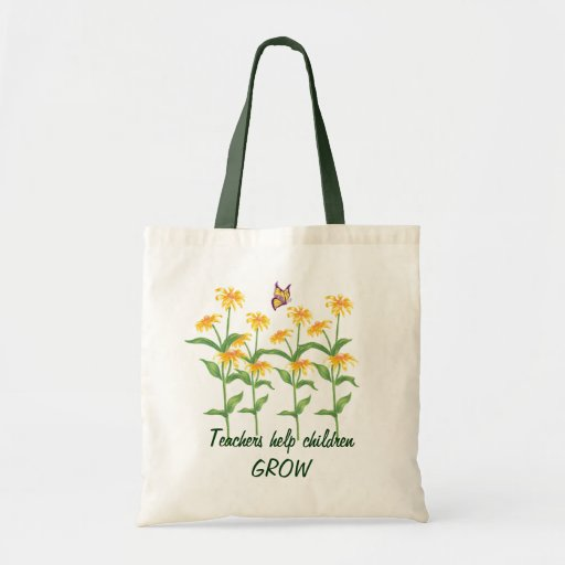 Teachers Help Children Grow - Customizable Tote Bags