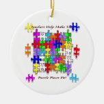 Teachers Help Make The Pieces Fit - Autism Awarene Ornaments