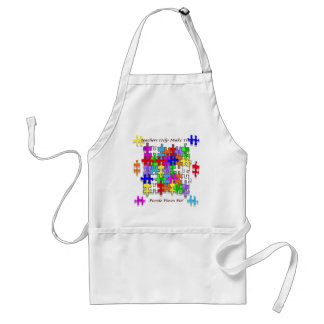 Teachers Help Make The Puzzle  Pieces Fit Adult Apron