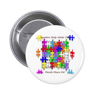 Teachers Help Make The Puzzle  Pieces Fit Button