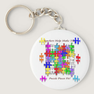 Teachers Help Make The Puzzle  Pieces Fit Keychain