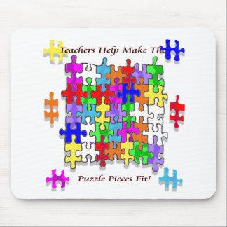 Teachers Help Make The Puzzle  Pieces Fit Mouse Pad
