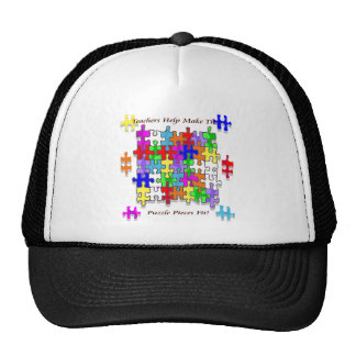 Teachers Help Make The Puzzle  Pieces Fit Trucker Hat