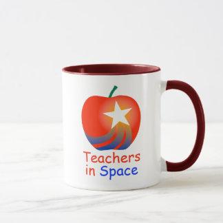 Teachers in Space Ringer Mug (Red)
