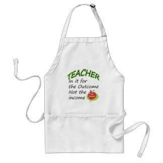 Teacher's Income Adult Apron