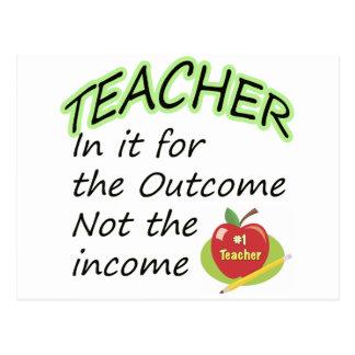 Teacher's Income Postcard