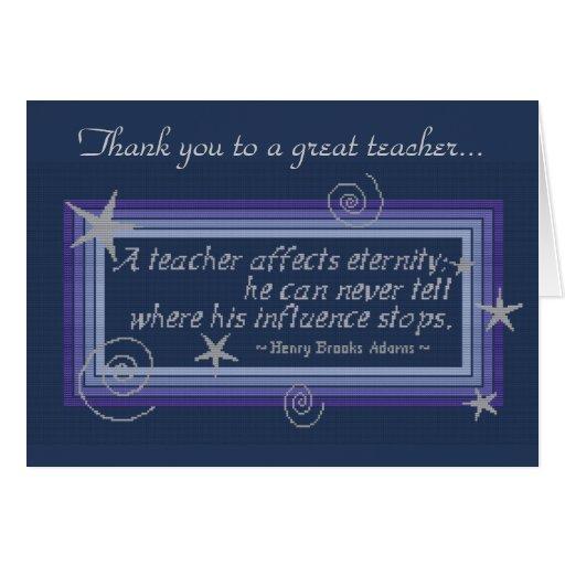 TEACHER'S INFLUENCE GREETING CARDS