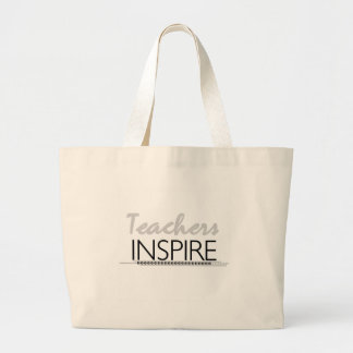 Teachers Inspire Large Tote Bag