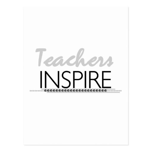 Teachers Inspire Tshirts and Gifts Postcard