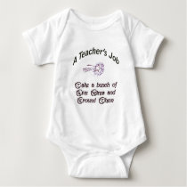 Teacher's job copy baby bodysuit