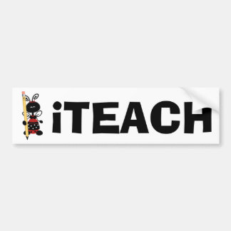 Teacher's Ladybug Bumper Sticker