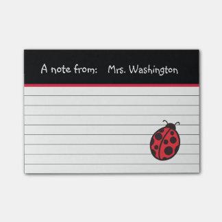 Teacher's Ladybug Post It Notes Post-it® Notes