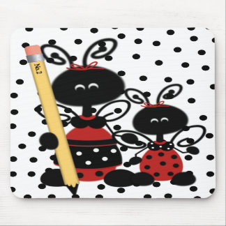 Teacher's Ladybug With Pencil Mouse Pad