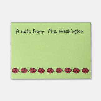 Teacher's Ladybugs School Post It Notes Gift