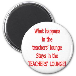 Teacher's Lounge 2 Inch Round Magnet