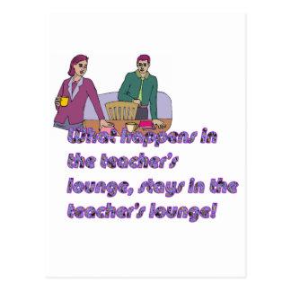 Teacher's loungs postcard